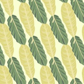 잎 노란색과 녹색 잎 완벽 한 패턴입니다.