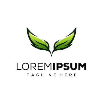 Leaf концепция дизайна логотипа
