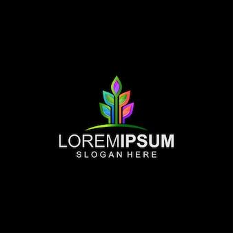 Красочный логотип leaf