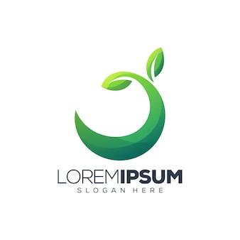 Зеленый логотип leaf