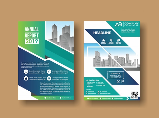 Leaflet cover presentation abstract geometric background