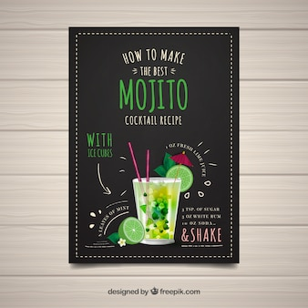 Leaflet of how to make a mojito