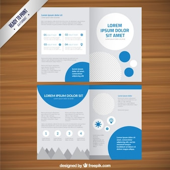 Leaflet template with circles Free Vector