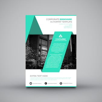 Leaflet template with origami shapes