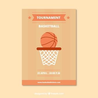 Буклет с баскетбольной корзиной