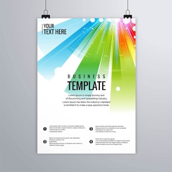 Leaflet with colorful rays