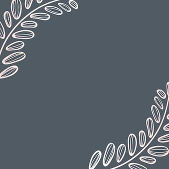 잎이 프레임 배경