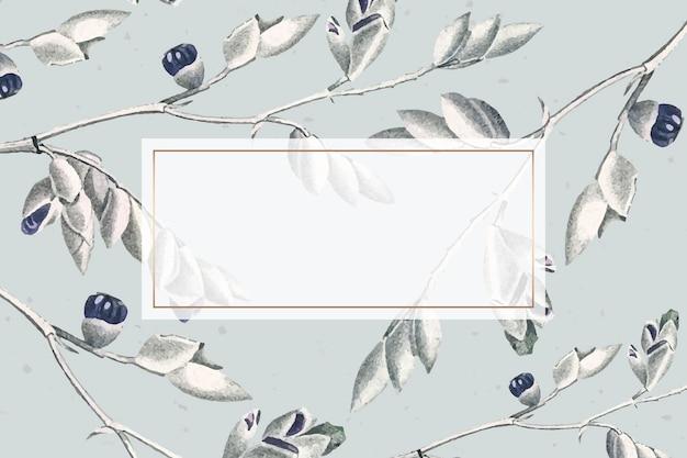 Design del telaio rettangolare a foglia
