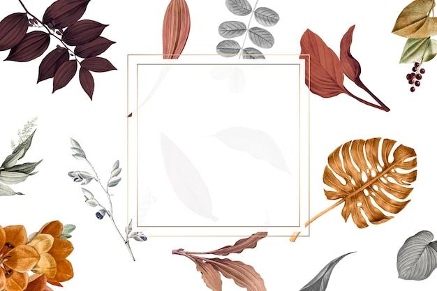Leafy square frame design