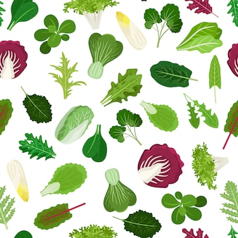 Leafy vegetables pattern