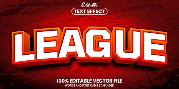 Текст лиги, редактируемый текстовый эффект стиля шрифта