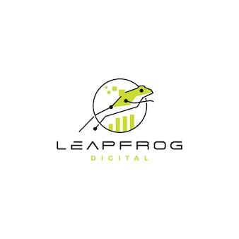 Leap frog tech digital chart logo