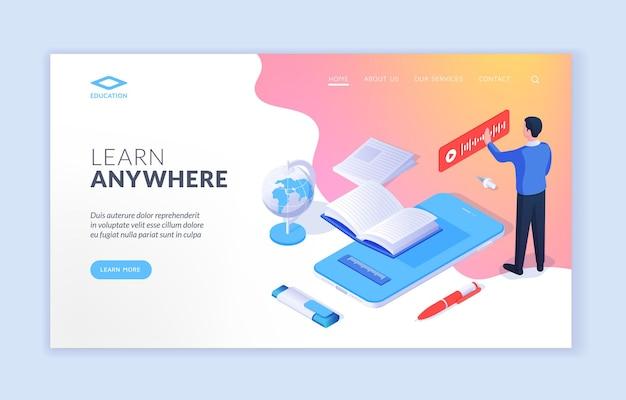 Learn anywhere website