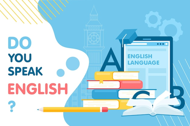 Learn english interface , learning language, school infographic education concept