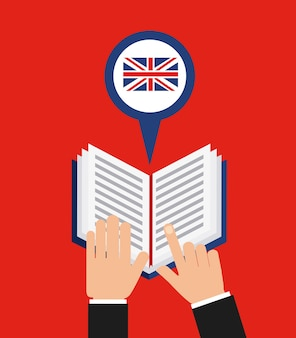 Learn english study icon