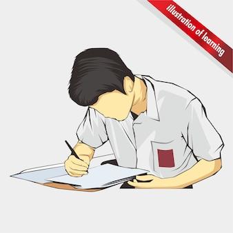 Learn ilustration vector