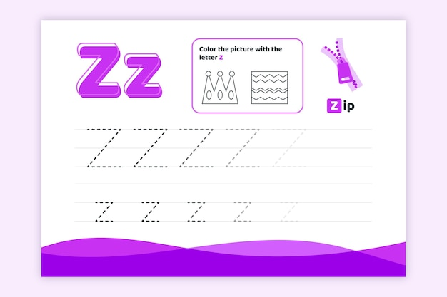 Learn letter z worksheet