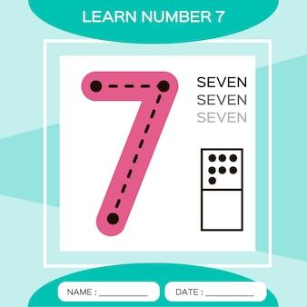 Выучите номер 7. семь. детская развивающая игра. счетная игра.