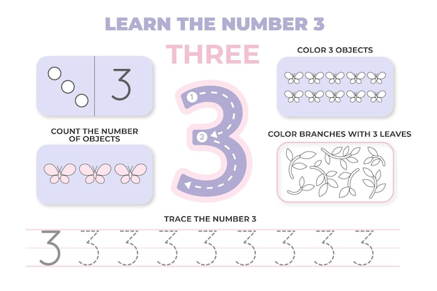 Impara il foglio di lavoro numero tre