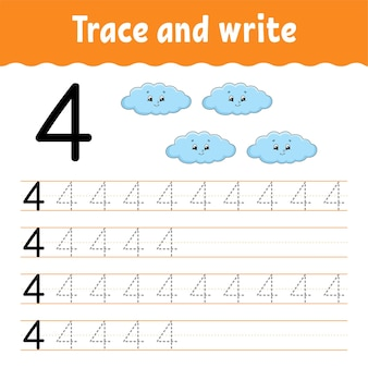 Learn numbers trace and write