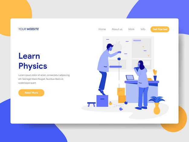 Learn physics illustration for web pages