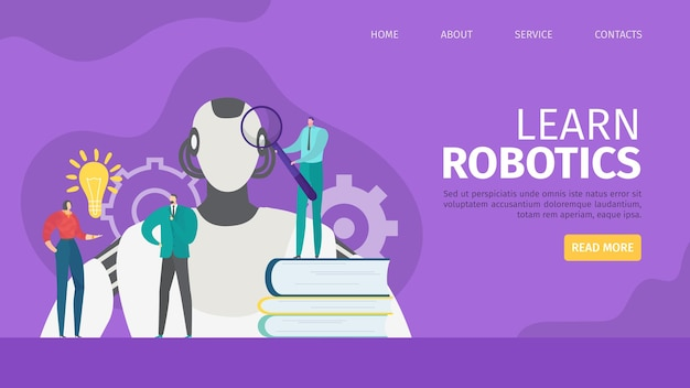 Learn robotics landing page