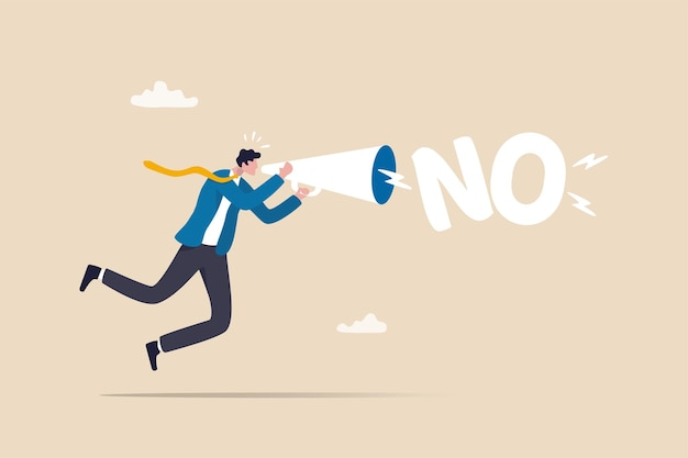 Learn to say no leadership skill to manage workload refuse to do wrong thing or time management
