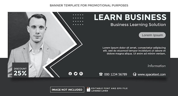 Learnbusiness theme banner template