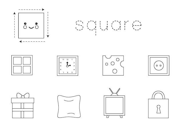Learning circle shape for children. basic 2d shapes.