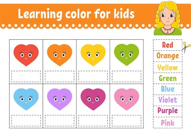 Learning color for kids. education developing worksheet.