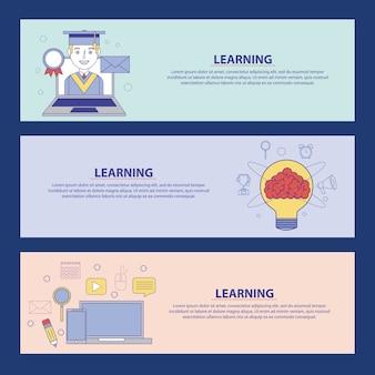 学習の概念のバナーチュートリアルの学習