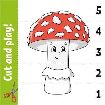 Learning numbers 1 to 5. cut and play.