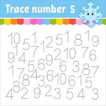 Обучение числам для детской иллюстрации