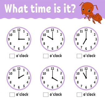 Learning time on the clock