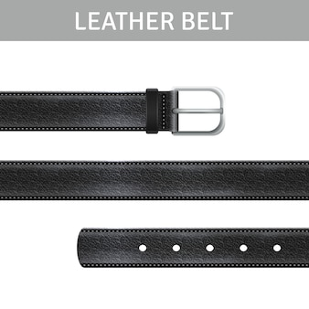 Leather Belt Set