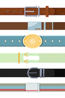 Leather belt. various cartoon   different types of belts for men