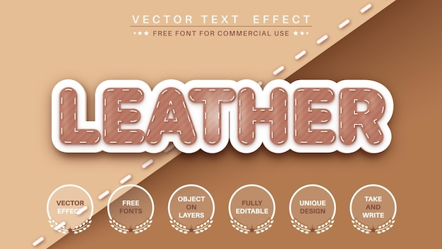 Leather editable text effect