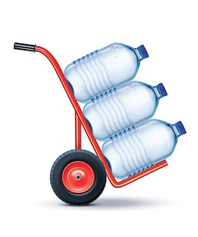 Кожаный кошелек с доставкой воды