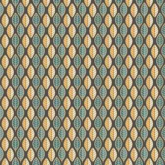 Leave seamless pattern art deco background