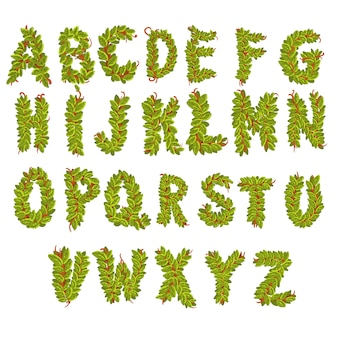 Leaves alphabet letters