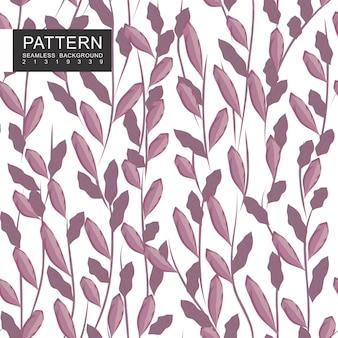 葉と枝のシームレスパターン