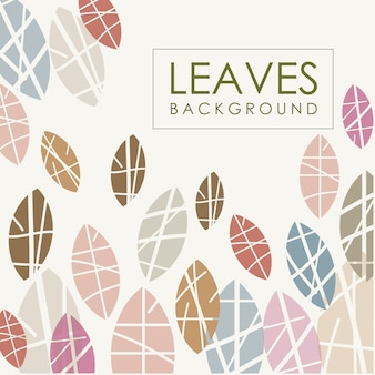 Leaves background chalk effects