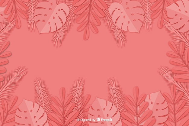 Leaves background in paper style