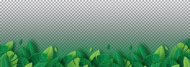 Листья фон в стиле papercut
