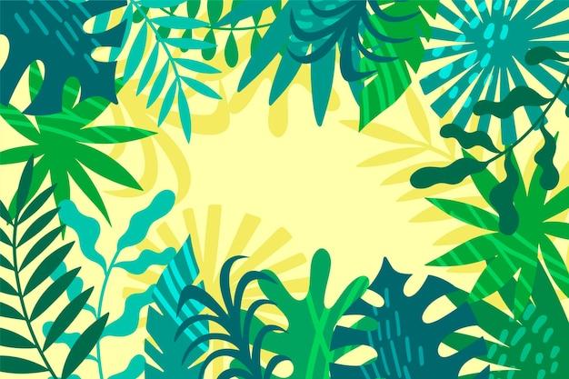 Листья фон тропический дизайн