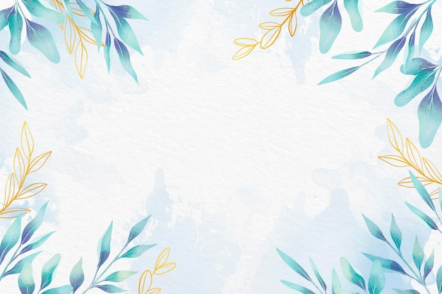 Leaves background with metallic foil design