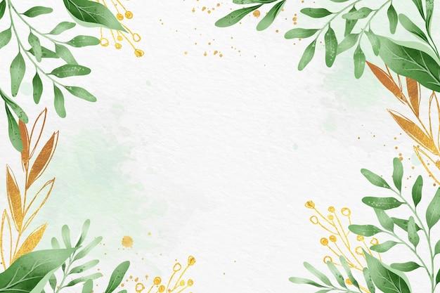 금속 호 일 테마와 나뭇잎 배경