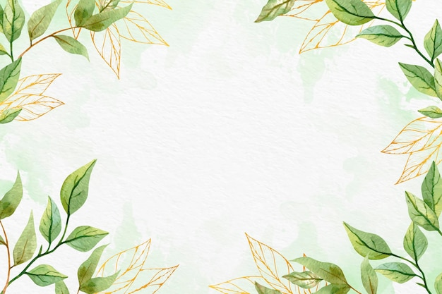 leaves background with metallic foil 79603