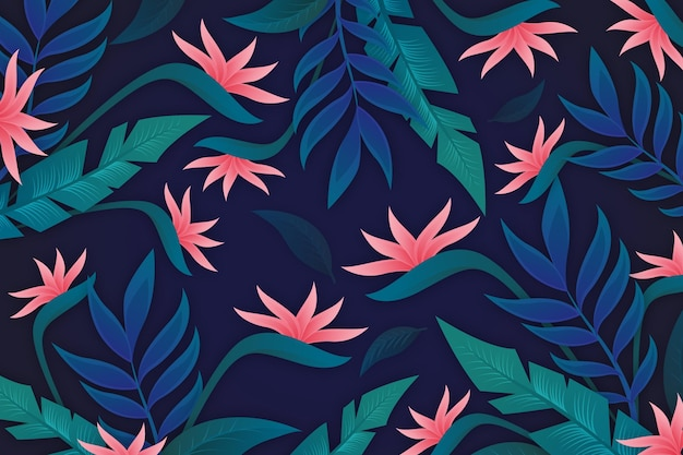 Lascia la priorità bassa con i fiori tropicali