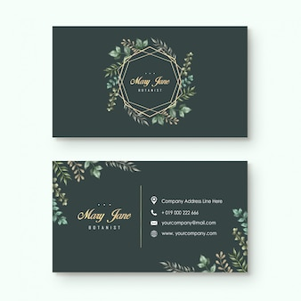 Leaves botanist business card